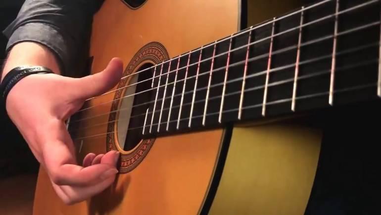 Thực hành Classic Guitar bài Greensleevs Full Sheet